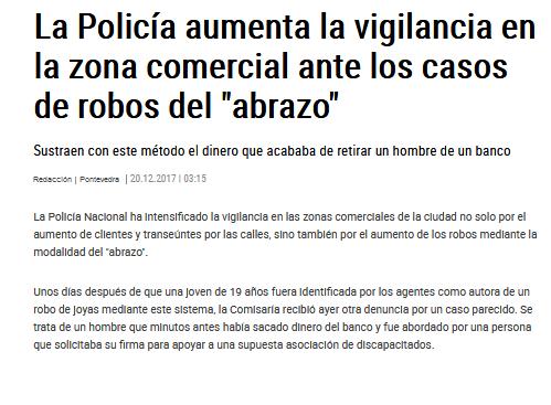 """La Policía aumenta la vigilancia ante los casos del robo del """"abrazo"""""""